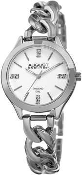 August Steiner White Dial Ladies Casual Watch