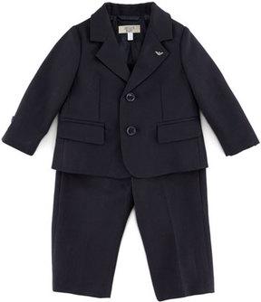 Armani Junior Little Boys' Two-Piece Suit, Blue, 3-24 Months