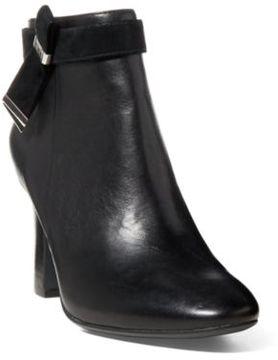 Ralph Lauren Leather Ankle Boot Black/Black 10