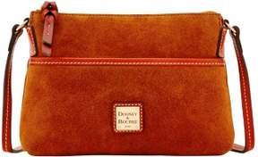 Dooney & Bourke Suede Ginger Crossbody Shoulder Bag - AMBER - STYLE