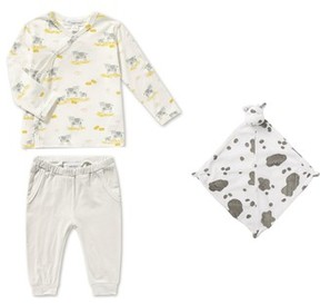 Angel Dear Infant Girl's Tee, Pants & Blankie Set
