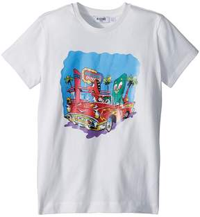 Moschino Kids Short Sleeve Car at Diner Graphic T-Shirt Boy's T Shirt