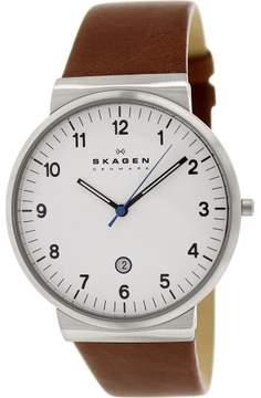 Skagen Men's Ancher SKW6082 Brown Leather Quartz Dress Watch