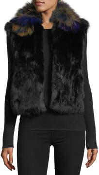 Adrienne Landau Dyed Rabbit-and-Fox Fur Vest
