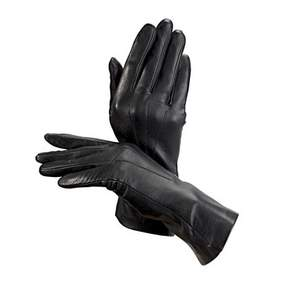 Aspinal of London Ladies Cashmere Lined Leather Gloves In Black