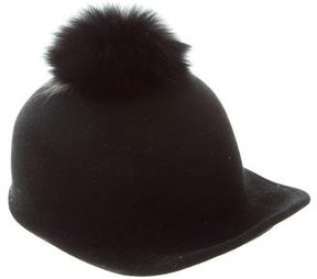 Eugenia Kim Fox Fur-Trimmed Wool Hat