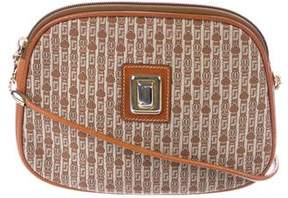 Judith Leiber Leather-Trimmed Crossbody Bag