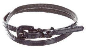 Carolina Herrera Patent Leather Skinny Belt