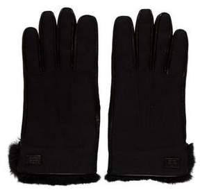 Gucci Fur-Trimmed Leather Gloves