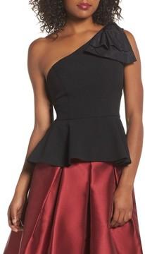 Eliza J Women's Bow Detail One-Shoulder Peplum Top