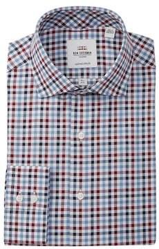 Ben Sherman Multi Twill Gingham Tailored Slim Fit Dress Shirt