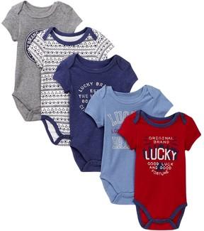 Lucky Brand LA Bodysuits - Pack of 5 (Baby Boys)