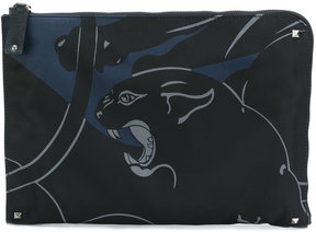 Valentino panther print document case