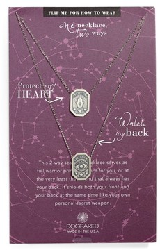 Dogeared Women's Protect My Heart, Watch My Back Scapular Two-Way Necklace