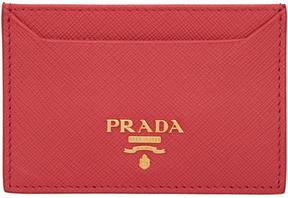 Prada Pink Logo Card Holder