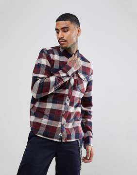 Element Flannel Shirt In Red Plaid Check