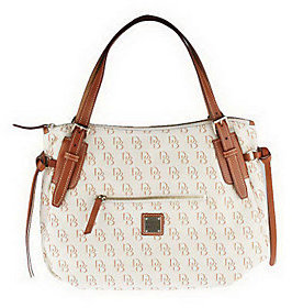 Dooney & Bourke As Is Dooney& Bourke Signatur e Nina Bag with Leather Bag - ONE COLOR - STYLE