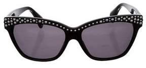 Alexander McQueen Rivet Cat-Eye Sunglasses