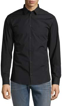 IRO Men's Waso Solid Cotton Shirt