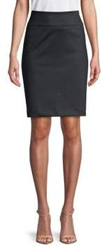 Isaac Mizrahi IMNYC Slimming Ponte Pull On Pencil Skirt with Back Vent