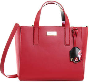 Kate Spade Rooster Red Mini Nellie Putnam Drive Leather Tote
