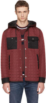 Diesel Black Gold Burgundy Quilted Jacket