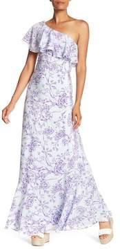 Amanda Uprichard One Shoulder Maxi Dress