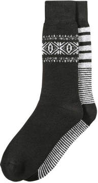Joe Fresh Men's 2 Pack Full Cushion Socks, JF Black (Size 10-13)