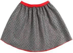 La Stupenderia Laser Cut Felt Wool Skirt