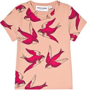 Mini Rodini Pink Swallows T-Shirt