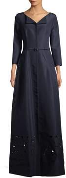 Carolina Herrera Women's Wool-Blend Cutout Gown