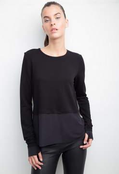 Generation Love Wren Split Black Sweatshirt With Reverse Layer