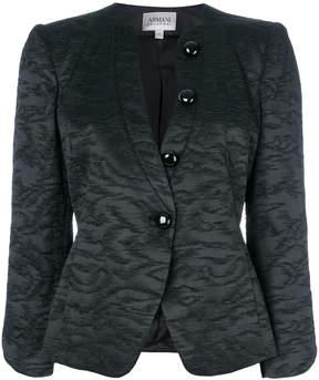 Armani Collezioni jacquard single-breasted jacket