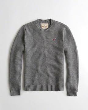 Hollister Wool-Blend Crewneck Sweater