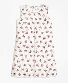 Brooks Brothers Floral Printed Cotton Stretch Dress