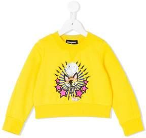 DSQUARED2 cat print sweatshirt