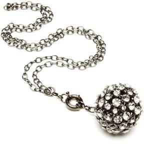 Amrita Singh Austrian Crystal & Gunmetal Ball Pendant Necklace