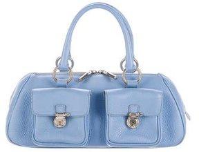Burberry Leather Shoulder Bag - BLUE - STYLE