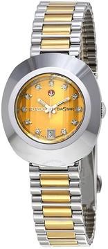 Rado Original Diastar Gold Tone Dial Two Tone Stainless Steel Men's Watch