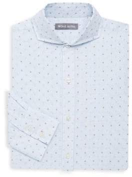 Michael Bastian Geometric Cotton Dress Shirt