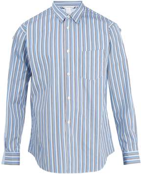 Comme des Garcons Striped and checked cotton-poplin shirt