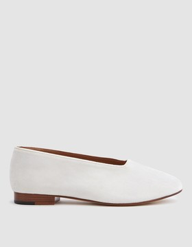 Martiniano Glove Shoe in White Velvet