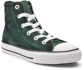 Converse Girls' Chuck Taylor All Star Velvet High Top Sneakers