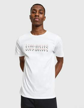 Saturdays NYC Strikethrough SS Tee in White