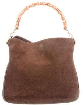Gucci Vintage Bamboo Shoulder Bag - BROWN - STYLE