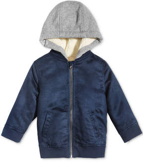 First Impressions Hooded Faux-Suede Bomber Jacket, Baby Boys (0-24 months), Created for Macy's