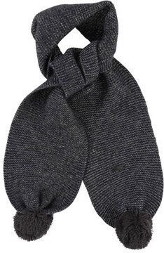 Karl Lagerfeld Kids' Knit Scarf w/ Pompoms