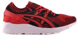 Asics Men's Red Fabric Sneakers.