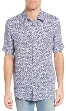 Rodd & Gunn Men's Island Road Original Fit Print Linen Sport Shirt