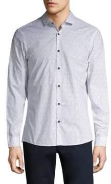 Michael Kors Otis Print Slim Fit Shirt